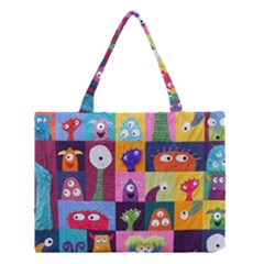 Monster Quilt Medium Tote Bag