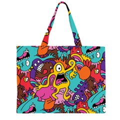 Monsters Pattern Large Tote Bag