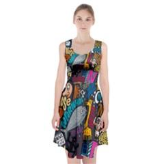 N Pattern Racerback Midi Dress