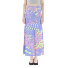 Abstract Geometric Pattern Bright Pastel Maxi Skirts