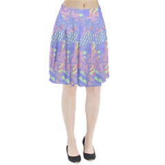 Abstract Geometric Pattern Bright Pastel Pleated Skirt