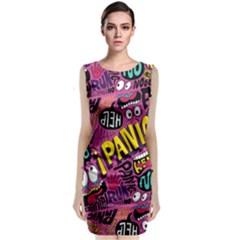 Panic Pattern Classic Sleeveless Midi Dress
