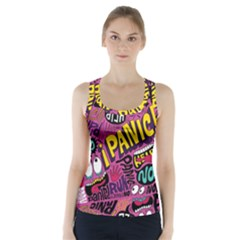 Panic Pattern Racer Back Sports Top