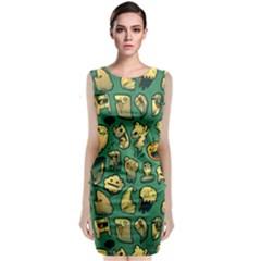 Pattern Linnch Classic Sleeveless Midi Dress