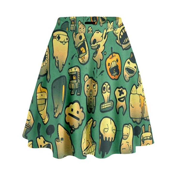 Pattern Linnch High Waist Skirt
