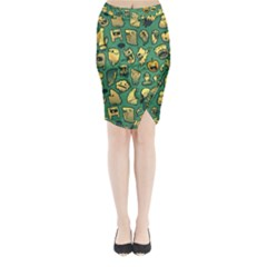 Pattern Linnch Midi Wrap Pencil Skirt