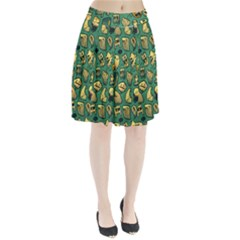 Pattern Linnch Pleated Skirt