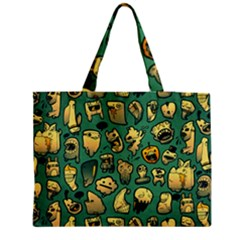 Pattern Linnch Medium Zipper Tote Bag
