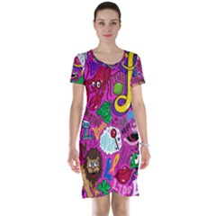Pattern Monsters Short Sleeve Nightdress