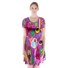 Pattern Monsters Short Sleeve V-neck Flare Dress
