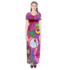 Pattern Monsters Short Sleeve Maxi Dress
