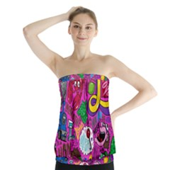 Pattern Monsters Strapless Top