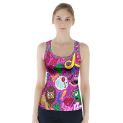 Pattern Monsters Racer Back Sports Top