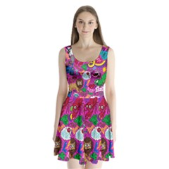 Pattern Monsters Split Back Mini Dress