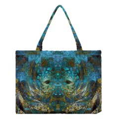 Modern Abstract Art Blue  Medium Tote Bag