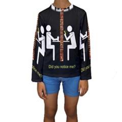 Pict Man Kids  Long Sleeve Swimwear