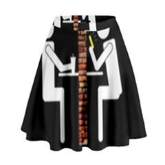 Pict Man High Waist Skirt