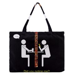 Pict Man Medium Zipper Tote Bag