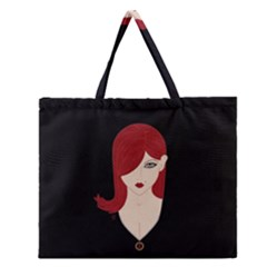 Picture Female Zipper Large Tote Bag