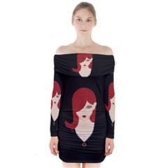 Picture Female Long Sleeve Off Shoulder Dress