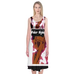Poker Night Midi Sleeveless Dress