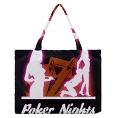 Poker Night Medium Zipper Tote Bag