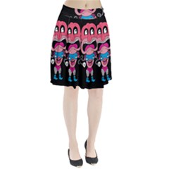 Red Cartoons Face Fun Pleated Skirt