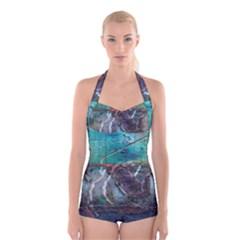 Vegas The Deep End  Boyleg Halter Swimsuit