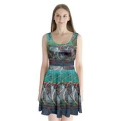 Vegas The Deep End  Split Back Mini Dress