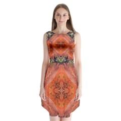 Boho Bohemian Hippie Floral Abstract Faded  Sleeveless Chiffon Dress