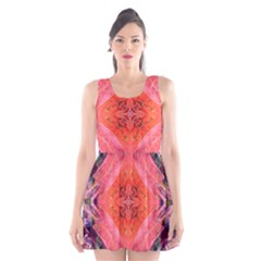 Boho Bohemian Hippie Retro Tie Dye Summer Flower Garden design Scoop Neck Skater Dress