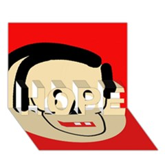 Face HOPE 3D Greeting Card (7x5)