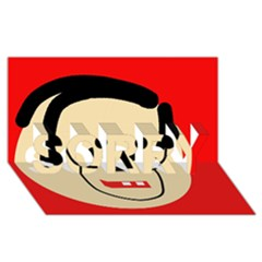 Face SORRY 3D Greeting Card (8x4)