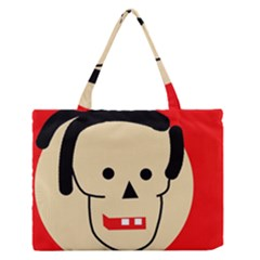 Face Medium Zipper Tote Bag