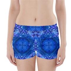 Boho Bohemian Hippie Tie Dye Cobalt Boyleg Bikini Wrap Bottoms