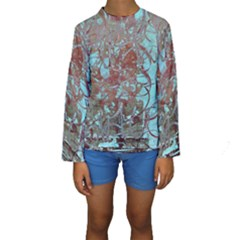 Urban Graffiti Grunge Look Kids  Long Sleeve Swimwear