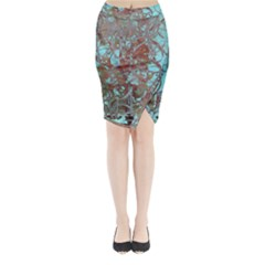 Urban Graffiti Grunge Look Midi Wrap Pencil Skirt