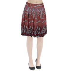 Urban Graffiti Rust Grunge Texture Background Pleated Skirt