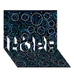 Blue Abstract Decor Hope 3d Greeting Card (7x5)