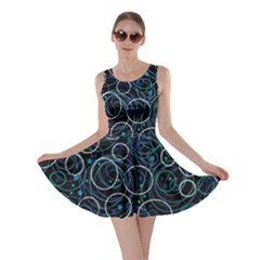 Blue abstract decor Skater Dress