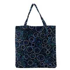 Blue abstract decor Grocery Tote Bag