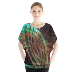 Metallic Abstract Copper Patina  Blouse