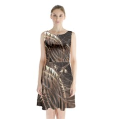 Copper Canyon Sleeveless Chiffon Waist Tie Dress