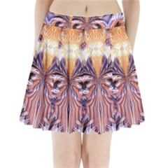 Fire Goddess Abstract Modern Digital Art  Pleated Mini Skirt
