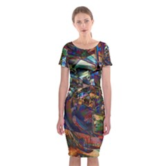 Las Vegas Nevada Ghosts Classic Short Sleeve Midi Dress