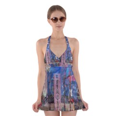 Las Vegas Strip Walking Tour Halter Swimsuit Dress