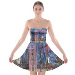 Las Vegas Strip Walking Tour Strapless Bra Top Dress