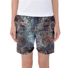 1a Mirror Lost Abstract  (2) Women s Basketball Shorts