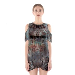 1a Mirror Lost Abstract  (2) Cutout Shoulder Dress