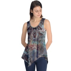 1a Mirror Lost Abstract  (2) Sleeveless Tunic